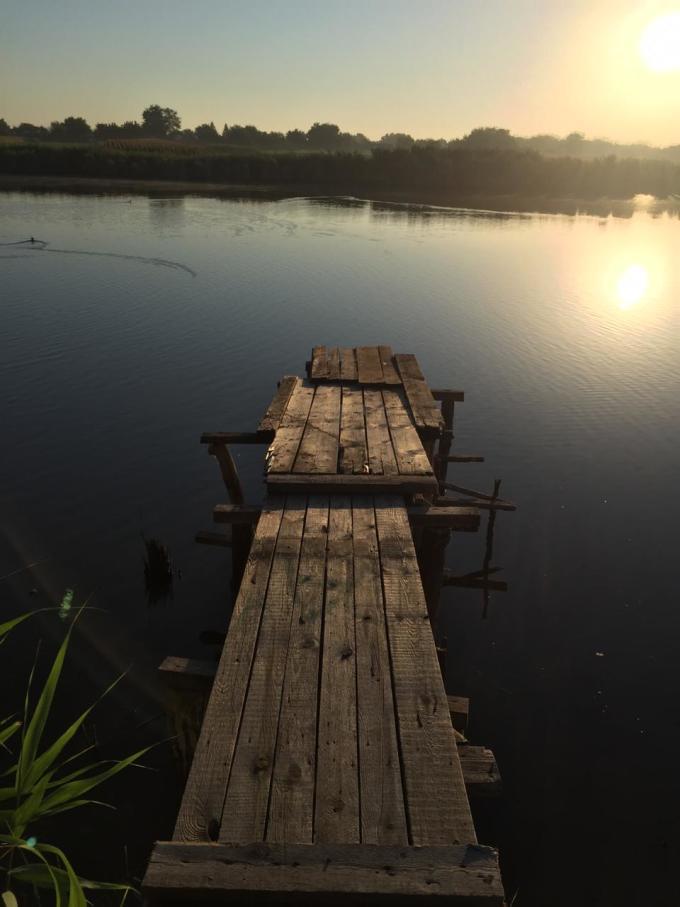 фото закат на реке